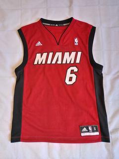 Camisa Nba adidas Miami Heat 6 Le Bron James