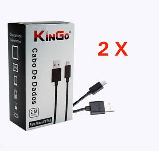 Kit 02 Cabo De Dados Micro Usb Kingo Motorola LG Samsung
