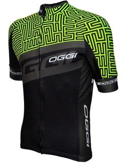 Camisa Ciclismo Bike Oggi Elite Agile Preta/verde Tam: M