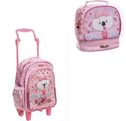 83ef9eb1b Kit Escolar Lilica Ripilica Mochila G Led + Lancheira Rosa - R$ 339 ...