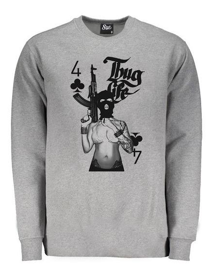 Roupa Camisa Frio Casaco Moda Masculina Moletom Thug Life