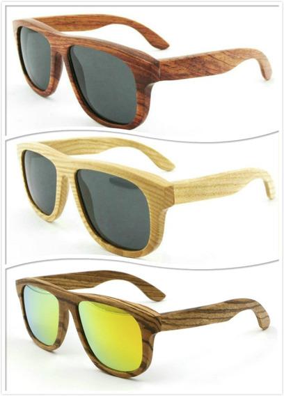 Óculos De Sol Modelo Cor Amadeirado