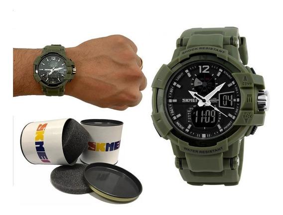 Relógio Masculino Esportivo Shock Skmei Barato + Nf 125