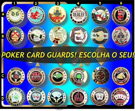 Poker Guard (peso Para Cartas Baralho) Em Metal Dourado!