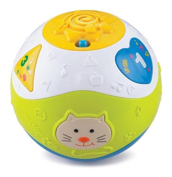Bola De Atividades Bebê 6 Meses Com Som Bilíngue 0052