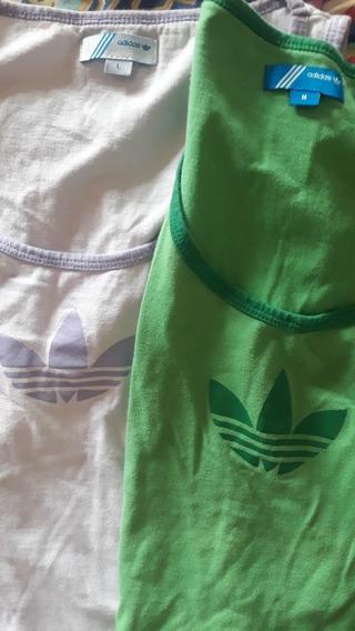 Musculosas adidas Lila Y Verde De Mujer
