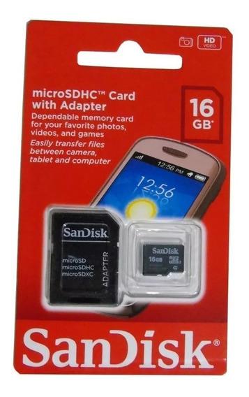10 Cartão De Memória Sd Sandisk 100% 16gb Atacado