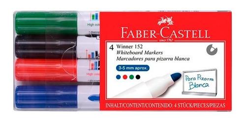 Marcadores Faber-castell Winner 152 Pizarra X4 Colores