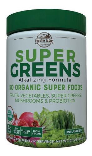Polvo  Super Greens De Country Farms10.6 Onzas