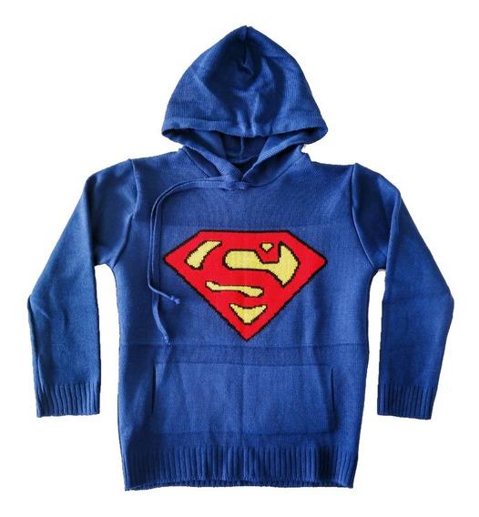 Casaco Blusa Agasalho Lã Com Capuz Infantil Superman Top