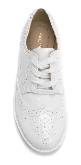 2 Sapatos Feminino Oxford Branco + 2 Sabonetes Italiano