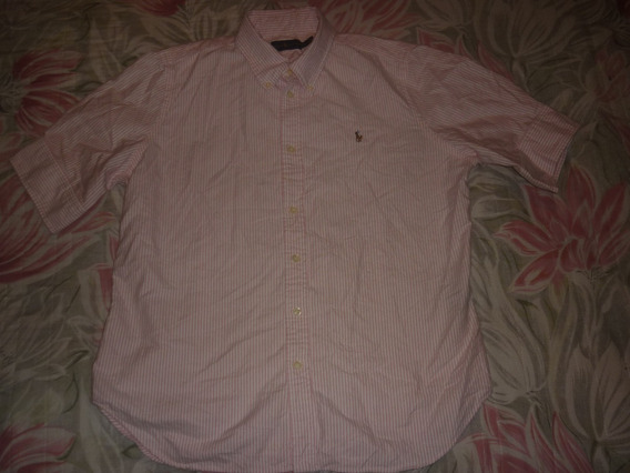 L Camisa De Dama Polo By Ralph Lauren Rayada Rosa Art 99122