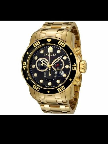 Relógio Invicta Pro Diver 0072 Masculino Dourado Ouro 18 K