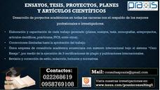 Asesores Profesionales En Estudios De Casos, Tesis, Ensayos!
