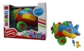 Aviao De Brinquedo Com Acessórios Para Montar E Desmontar Tt