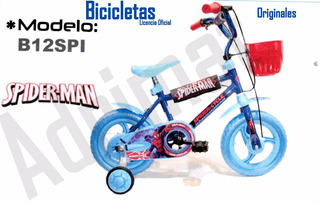 Bicicleta Infantil Rodado 12 Spider-man-original
