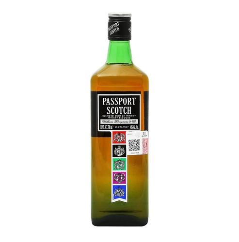 Imagen 1 de 4 de Botella Whisky Blended Scotch Passport Escocia 700ml