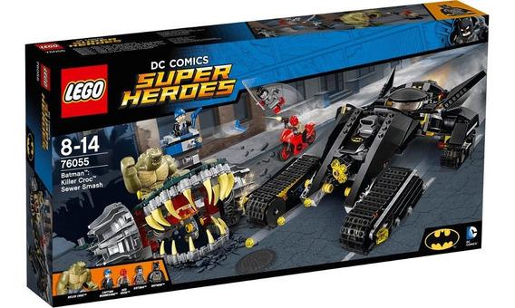 Brinquedo Lego Super Herois Batman Killer Croc Sewer 76055