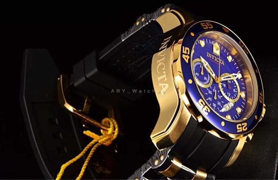 Invicta 48 Mm Pro Diver Scuba Gold Plated Etiqueta 799 Usd