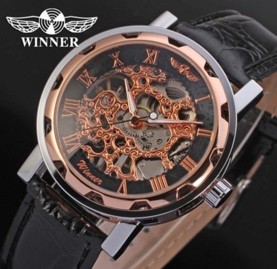 Relógio Winner Esqueleto, Bonito, Barato , Mecânico Un.