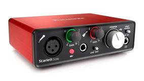 Interface Focusrite De Aúdio Usb Scarlett Solo 2a Geração