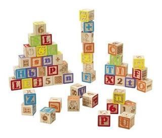 Cubo De Madera 27 Piezas Juguete, Didactico Letras Y Numero