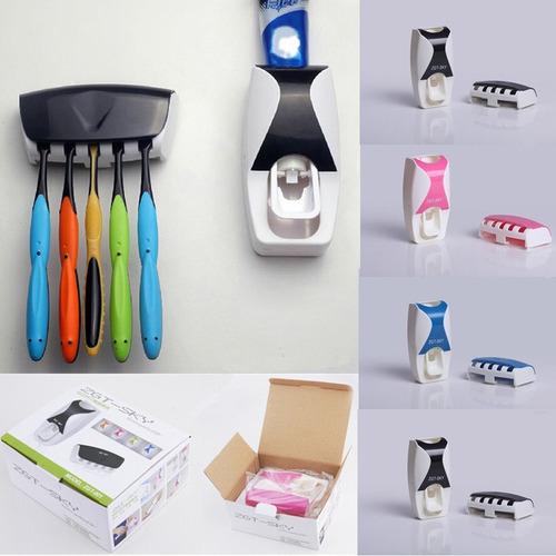 Dispensador Automatico De Pasta Dental + Porta Cepillos