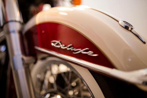 Harley Davison Softail Deluxe 2013 - Cromo, Vermelho, Branco