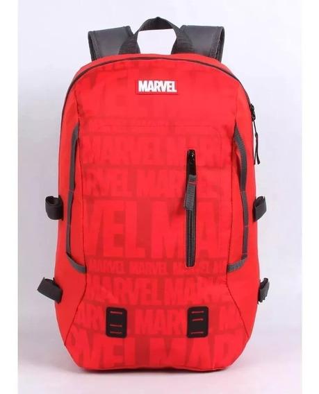 Mochila Bolsa Escolar Marvel G Vermelha - Dmw