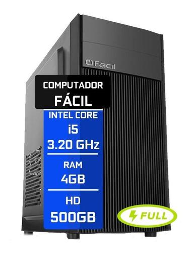 Computador Fácil Intel Core I5 4gb Ddr3 Hd 500gb