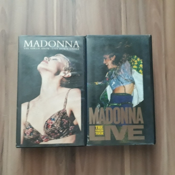 Fitas Vhs - Madonna Virgin Tour & Girlie Show