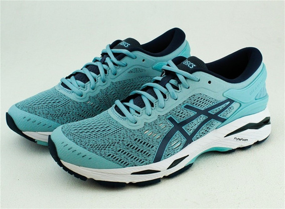 Tenis Asics Dama Gel-kayano 24 Color Azul Blanco