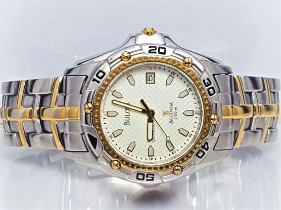Relógio Bulova 98g37 Millennia, Original, Banhado A Ouro