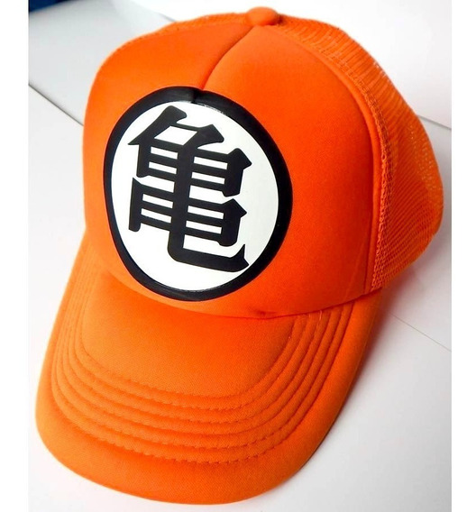 Dragon Ball Gorra Trucker Goku Kame Roshi Broche Ajustable