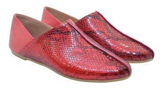 Chatas De Cuero Zapatos Mujer Suela De Goma Livianas !
