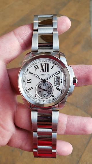 Reloj Cartier Calibre De Cartier Blanco Completo W7100015
