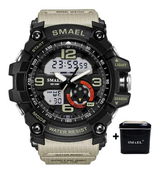 Relógio Masculino Smael® 1617 Khaki Original +caixinha Smael