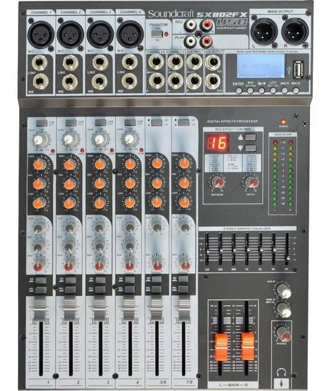Mesa De Som Soundcraft Sx802fx Usb | Original Harman | Nfe