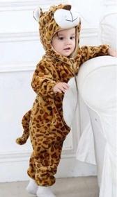 Macacão Inverno Bebê Leopardo Branco 18-24 Meses Roupa Algod