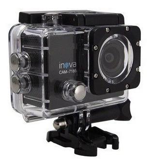 Câmera De Ação Inova 4k Com 12 Acessórios