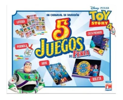 Imagen 1 de 2 de Juego De Mesa Toy Story 4 Cinco Juegos De Feria