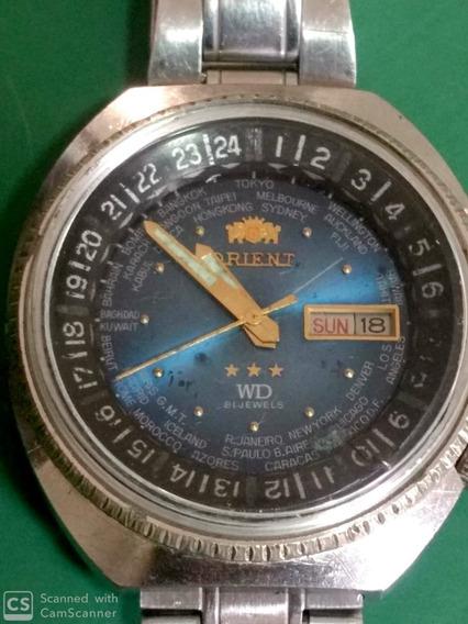 Relógio Orient World Diver 3 Chaves Automático Funcionando E Revisado