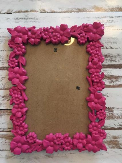 Porta Retrato Pink Com Flores