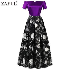 Zaful Hepburn Vendimia Serie Vestido Mujeres Elegante