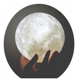 Velador Luna Moderno Led Lampara Luna Grande Luz Noche