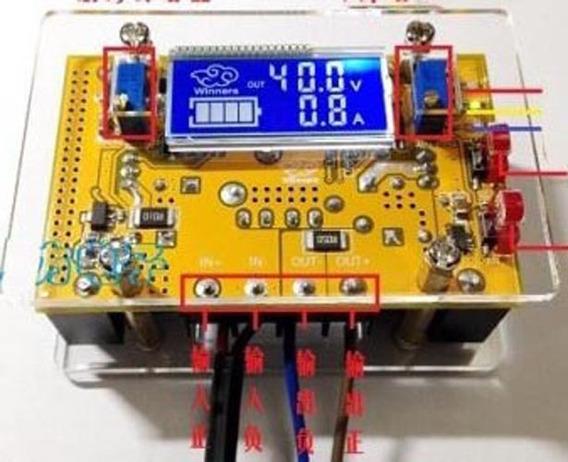 Módulo Conversor Voltagem Cc Cv 10-32v 10-60v Display Lcd