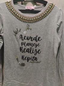 Blusa T-shirt Bordada Acorde E Realize
