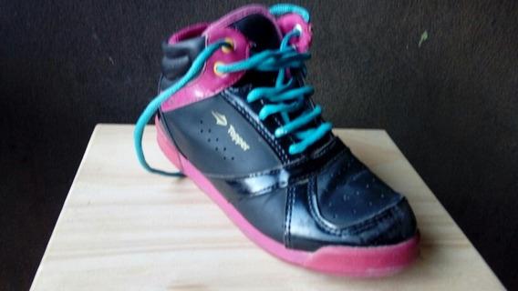 Zapatillas Topper Original. Botita De Cuero De Niña
