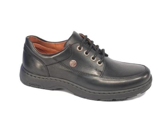 Zapato Cavatini Acordonado Liso-flor Negro-70-3722