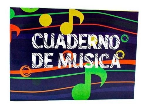 Imagen 1 de 1 de Cuaderno Musica Grapado Peq. Nessan